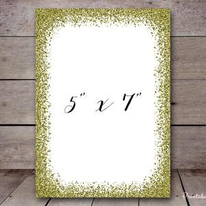 gold glitter frame printable bs140