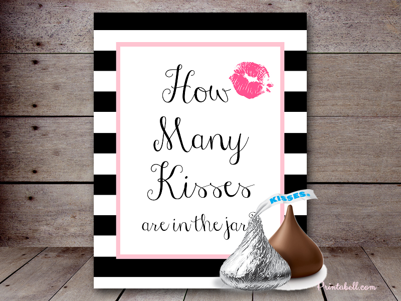 image about Guess How Many in the Jar Printable identified as How A great number of Kisses Printabell Acquire