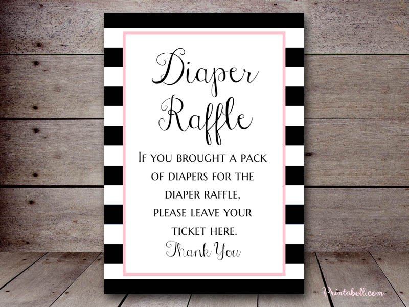 raffle sign template