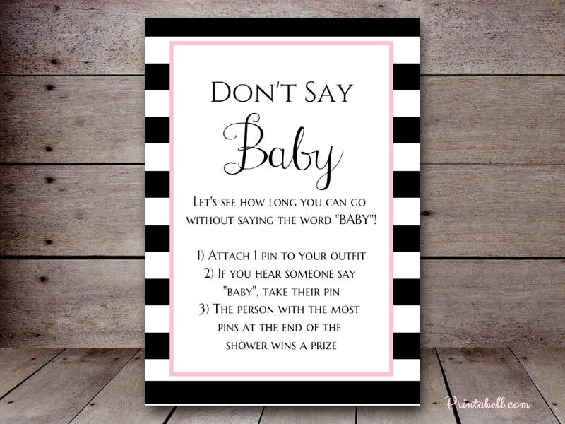 image regarding Free Don't Say Baby Printable named Dont Say Youngster Printabell Crank out