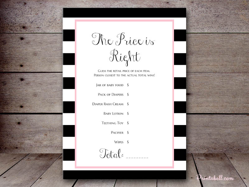game for bridal shower free%0A price is right bridal shower game template free u x u Price is Right BS a  Use this
