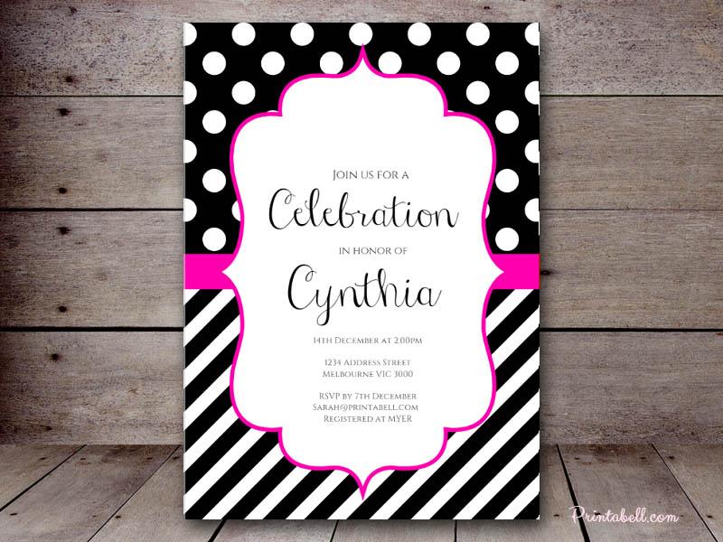 Bridal Shower Invitations Printabell Create