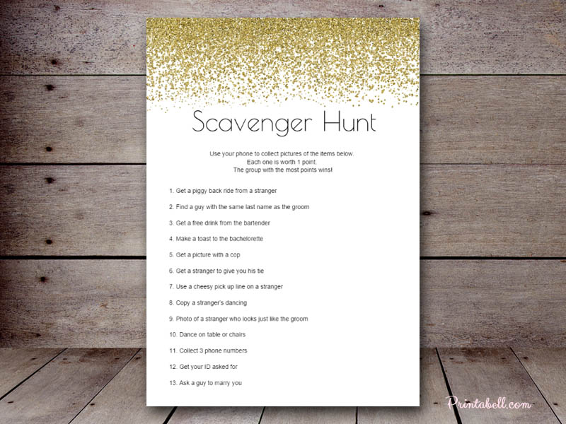Bridal Scavenger Hunt – Printabell • Create