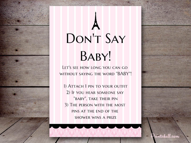 baby shower word template