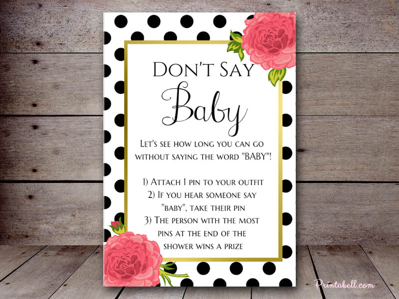image regarding Don T Say Baby Game Printable called Dont Say Child Printabell Develop
