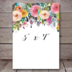 sn34 floral shabby chic signs