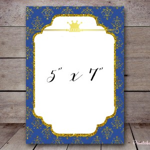 BS137a royal blue prince baby shower