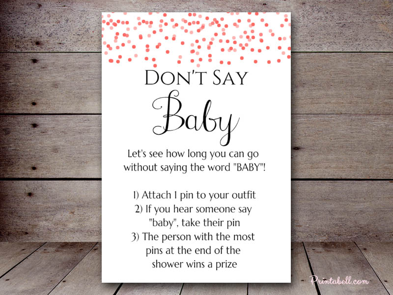 This is a graphic of Lucrative Don T Say Baby Printable