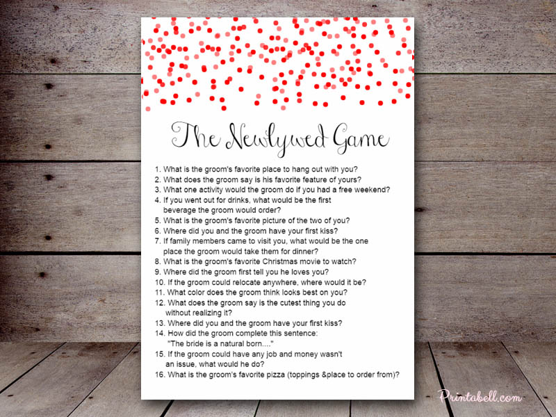 editable confetti bridal shower games bs215b the newlywed game 1 Top Result 60 Best Of Templates for Bridal Shower Games Pic 2017 Phe2