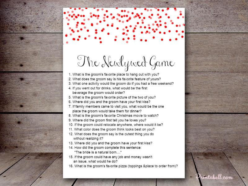 The Newlywed Game – Printabell • Create