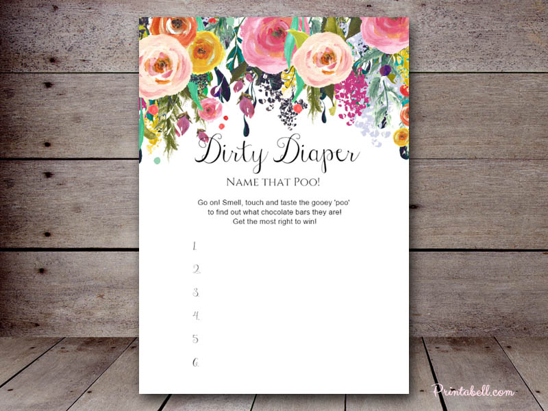 chic baby shower games printable dirty diaper game sweet