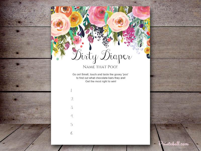 Dirty Diaper Printabell Create