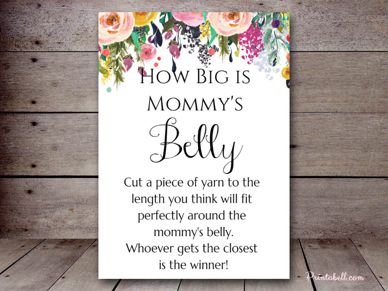 It's just an image of Irresistible How Big is Mommy's Belly Free Printable