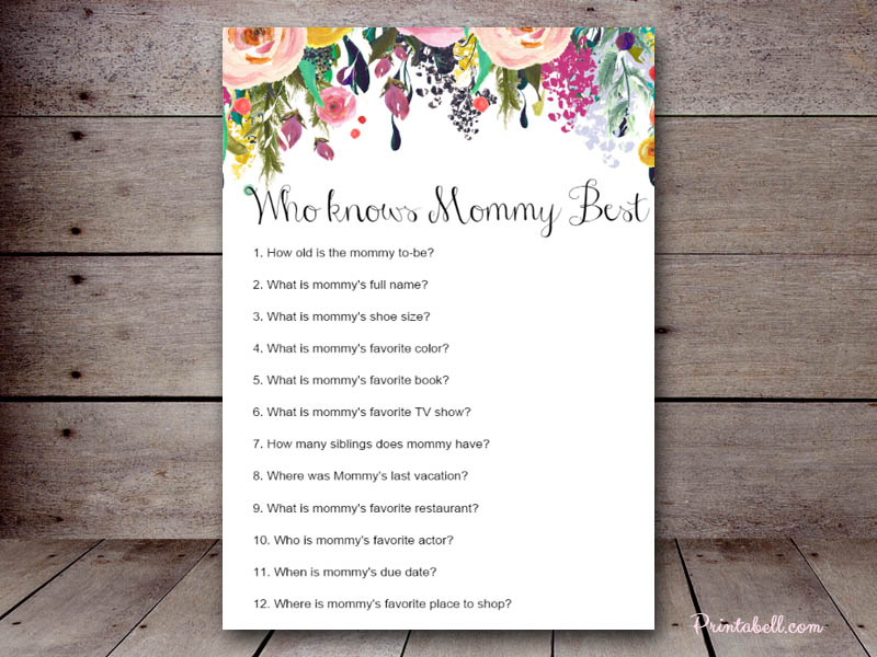 It's just an image of Geeky Who Knows Mommy Best Free Printable