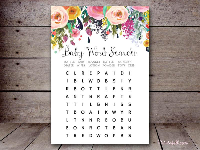 baby word search  u2013 printabell  u2022 create