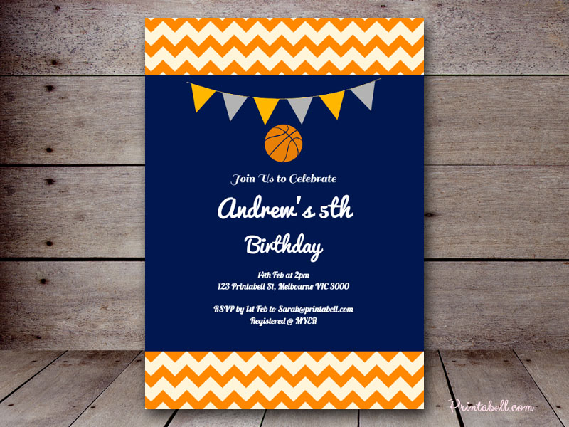 Baby shower invitations printabell create 5x7 basketball invite tlc55 filmwisefo Choice Image