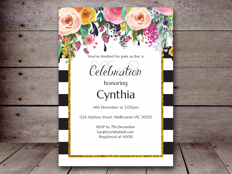 Bridal Shower Invitations Printabell Create