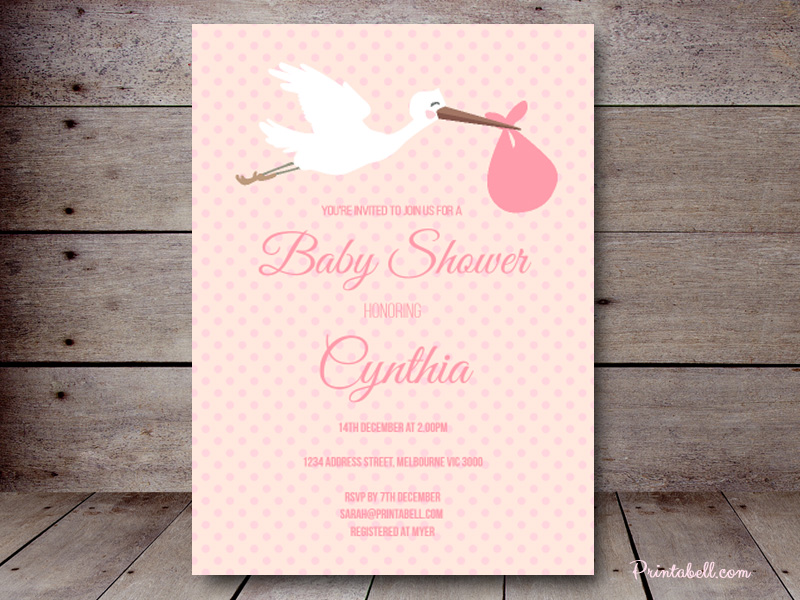 Editable Baby Shower Invitations – Printabell • Create