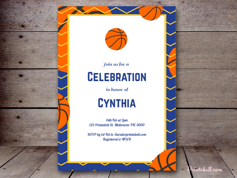Baby shower invitations printabell create 5x7 basketball invite tlc97 filmwisefo Choice Image