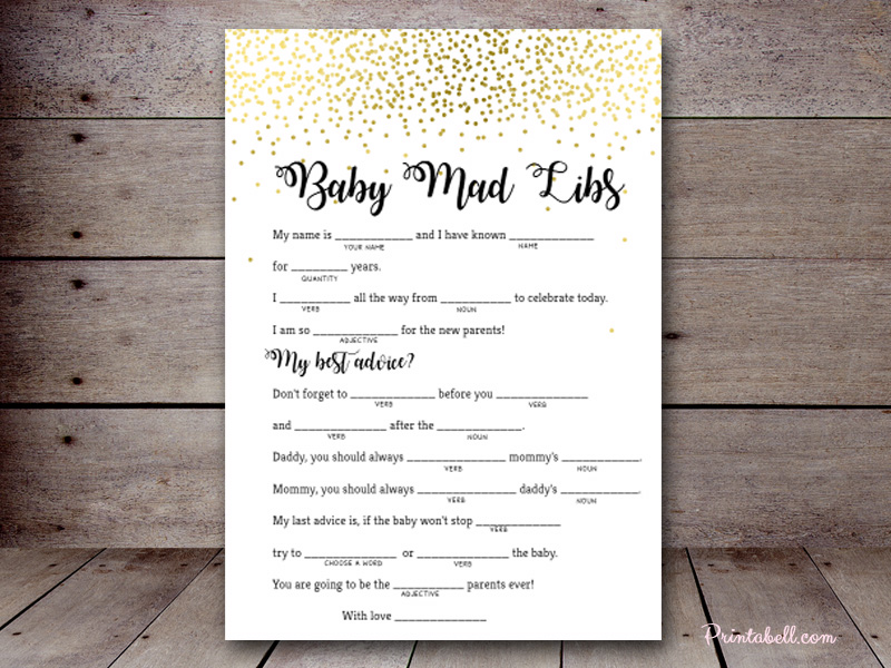 Baby mad libs printabell create 5x7 baby mad libs bs472a use this template pronofoot35fo Image collections