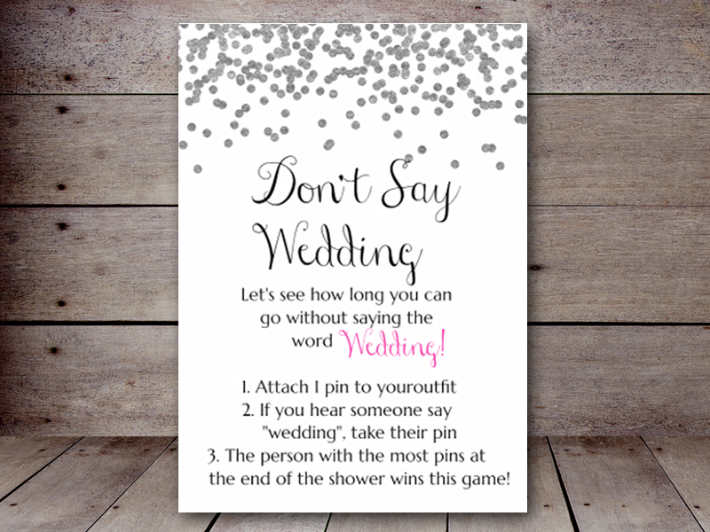 don u2019t say wedding  u2013 printabell  u2022 create