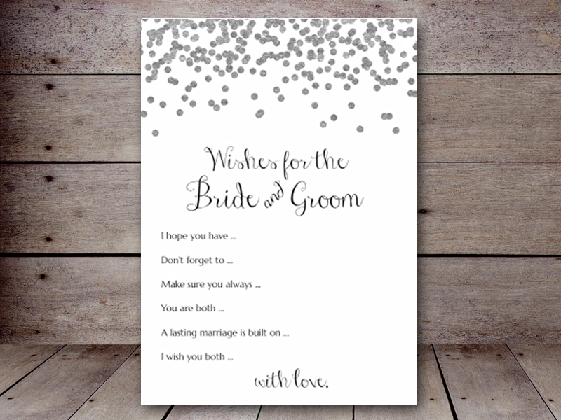 5x7 wishes for bride groom bs149b