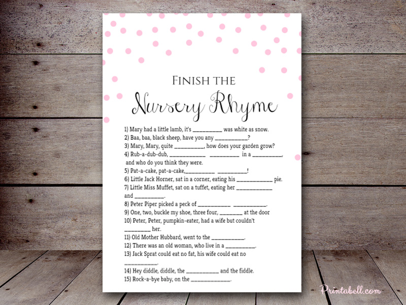 Nursery rhyme quiz 2 printabell create use this template stopboris Image collections