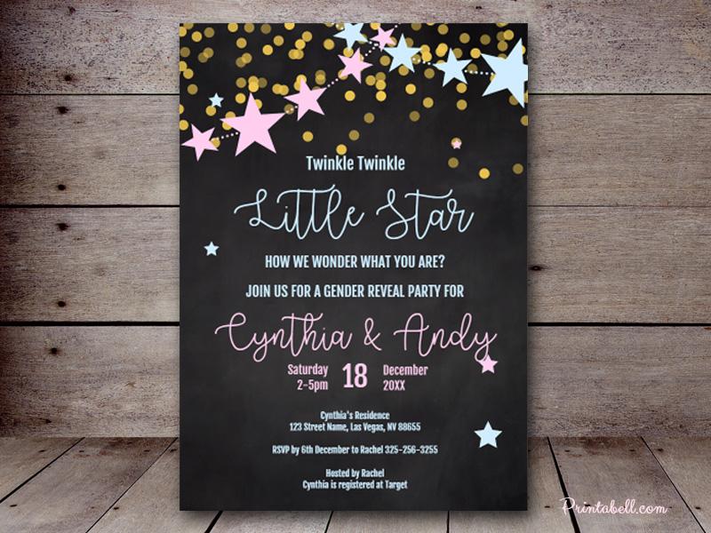 Twinkle little star birthday invitations twinkle little star.