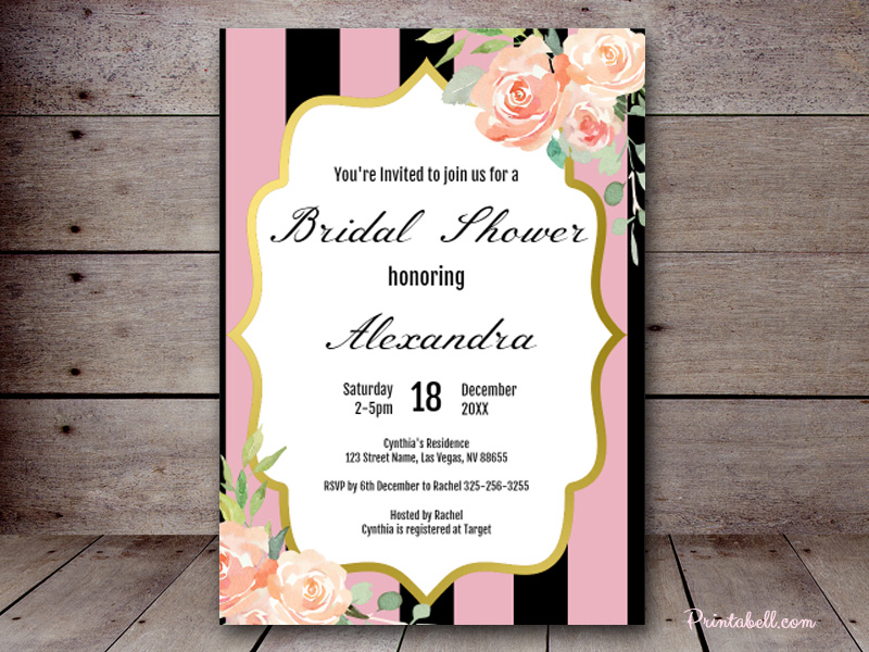 Editable baby shower invitations printabell create 5x7 pink parisian invite zz02 filmwisefo