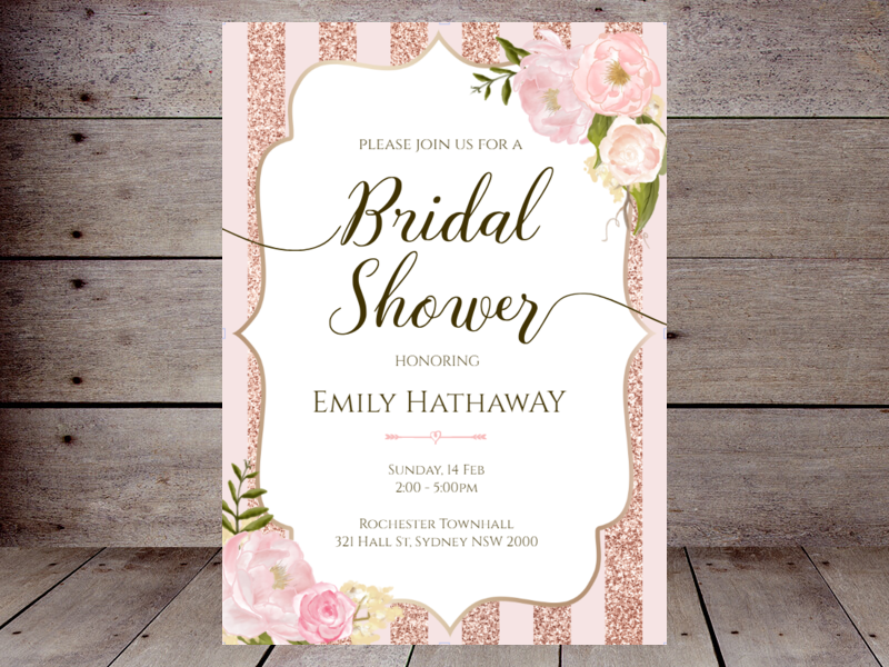 Editable Bridal Shower Invitations Printabell Create