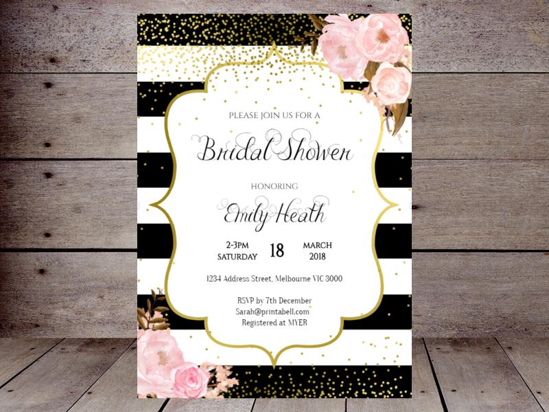 86d8cc38083b Editable Bridal Shower Invitations – Printabell • Create