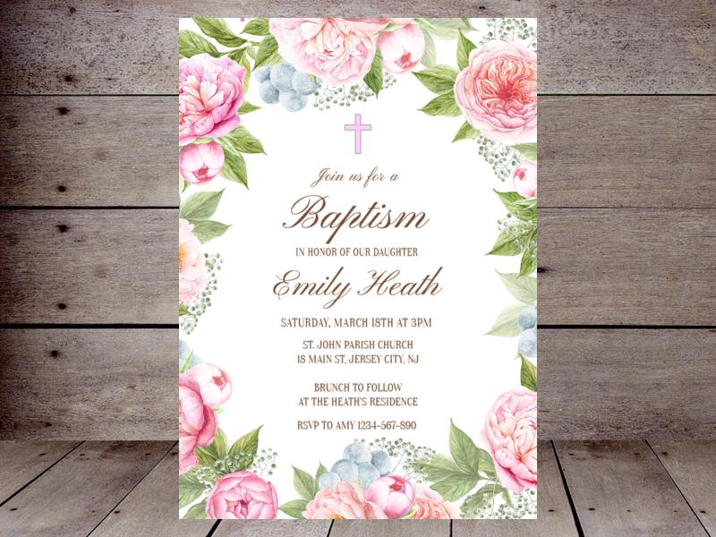 editable baptism invitations printabell create