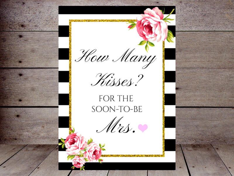 graphic about How Many Kisses for the Soon to Be Mrs Free Printable titled How Plenty of Kisses Printabell Make