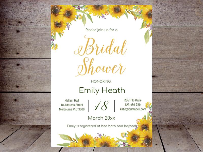 Editable bridal shower invitations printabell create sunflower bridal shower th80 filmwisefo