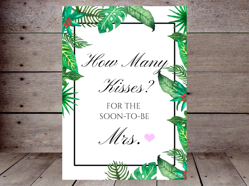 photo relating to Guess How Many Kisses for the Soon to Be Mrs Free Printable known as How Several Kisses Printabell Crank out