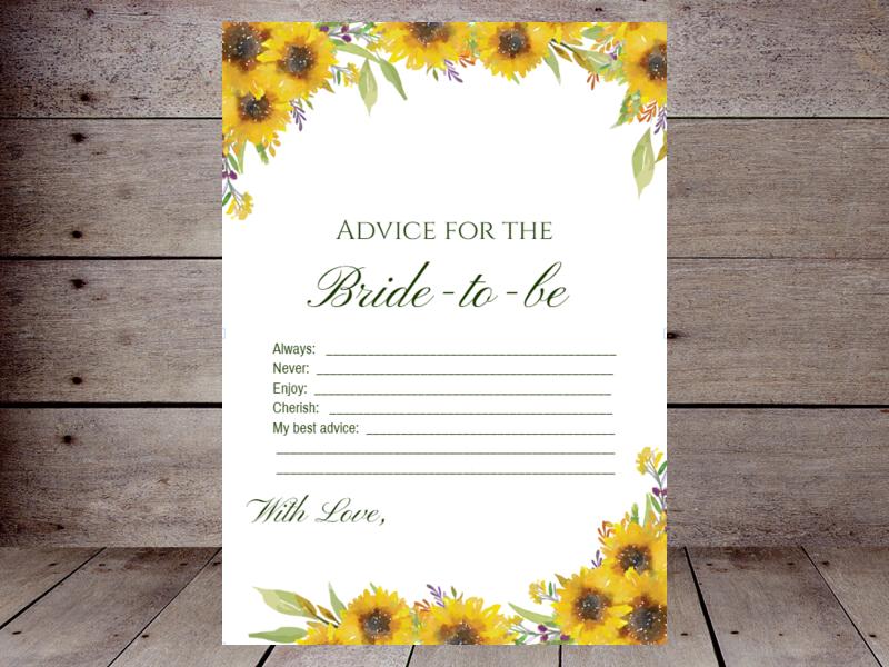 Bridal Advice Cards – Printabell • Create