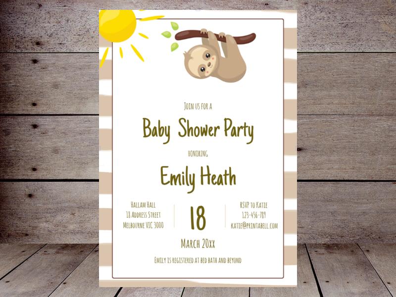 Editable Baby Shower Invitations Printabell Create