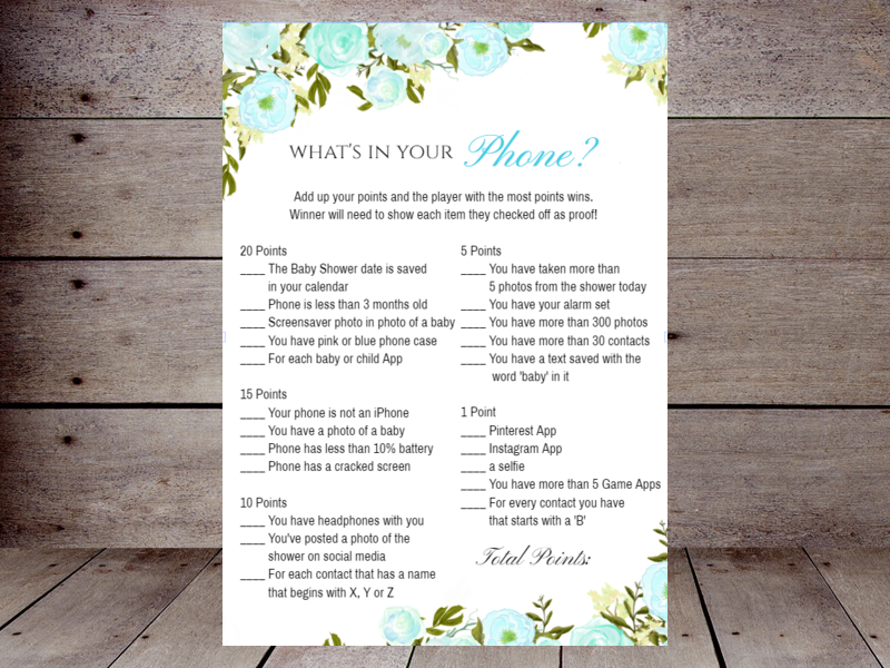 photograph regarding What's in Your Phone Baby Shower Game Free Printable known as Whats inside of your Cellular phone? Printabell Build