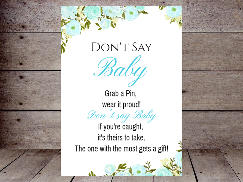 photo regarding Free Don't Say Baby Printable named Dont Say Boy or girl Printabell Acquire