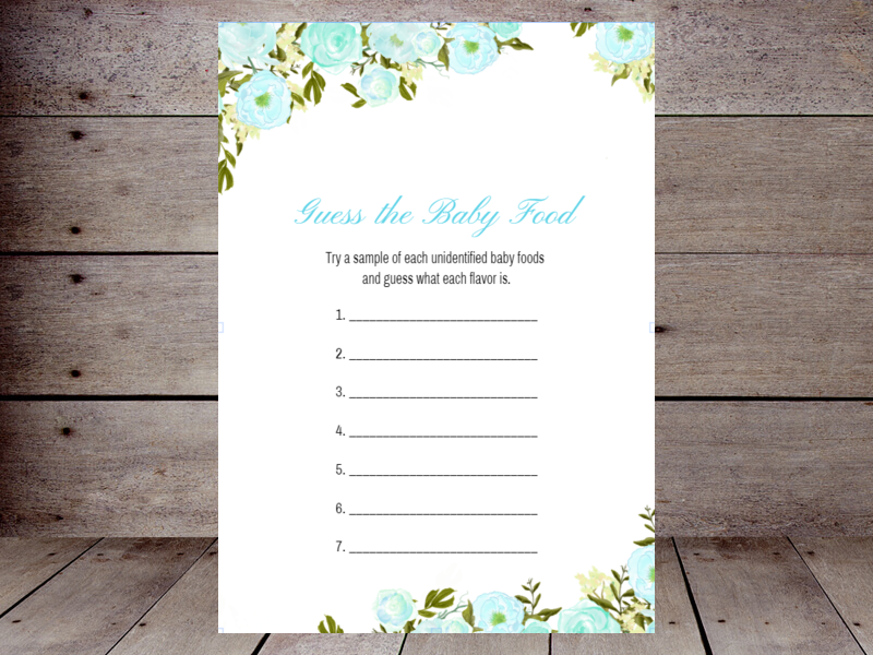 Blue Peonies 5 7 Guess Baby Food Use This Template