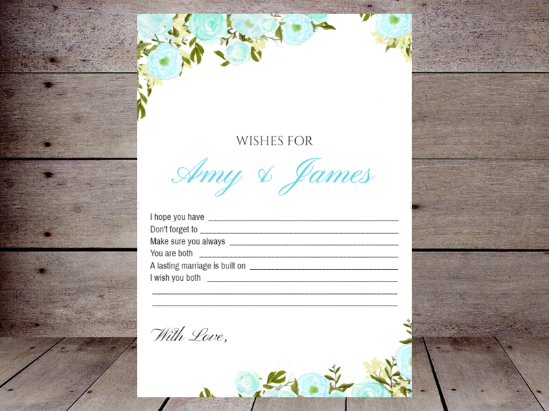 photograph relating to 5 Wishes Printable Version named Wants for the Bride and Groom Printabell Develop