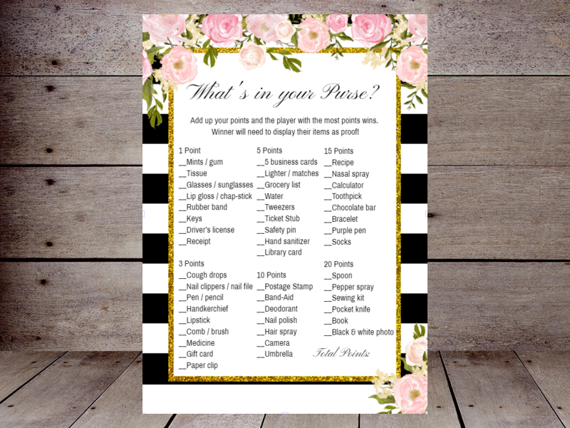 graphic regarding What's in Your Purse Free Printable referred to as Bridal Whats within just your Purse Printabell Make