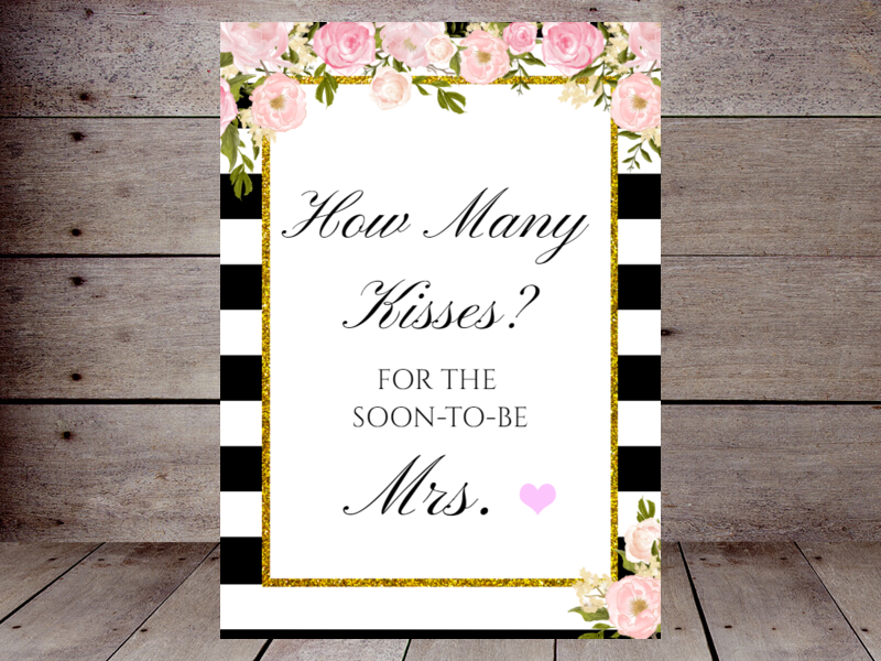 image about Guess How Many Kisses for the Soon to Be Mrs Free Printable called How Plenty of Kisses Printabell Generate