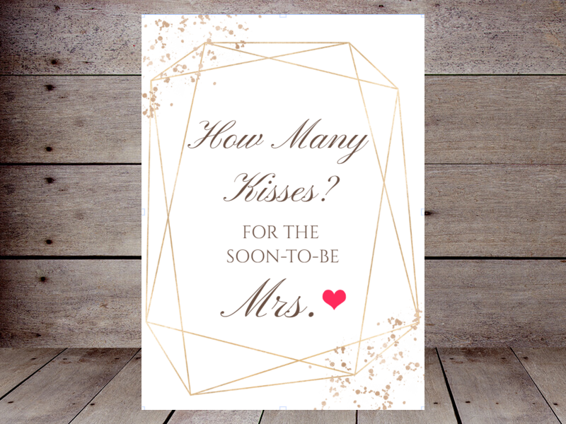 image regarding Guess How Many Kisses for the Soon to Be Mrs Free Printable identified as How A lot of Kisses Printabell Crank out