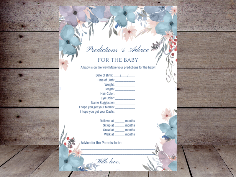 image about Baby Prediction Cards Free Printable called Child Predictions Printabell Generate